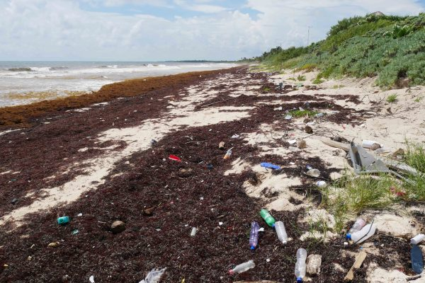 sian kaan beaches and plastic